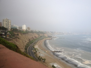 Beautiful, if polluted, view from Miraflores